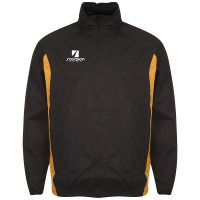 Black & Amber College Netball Training Jacket